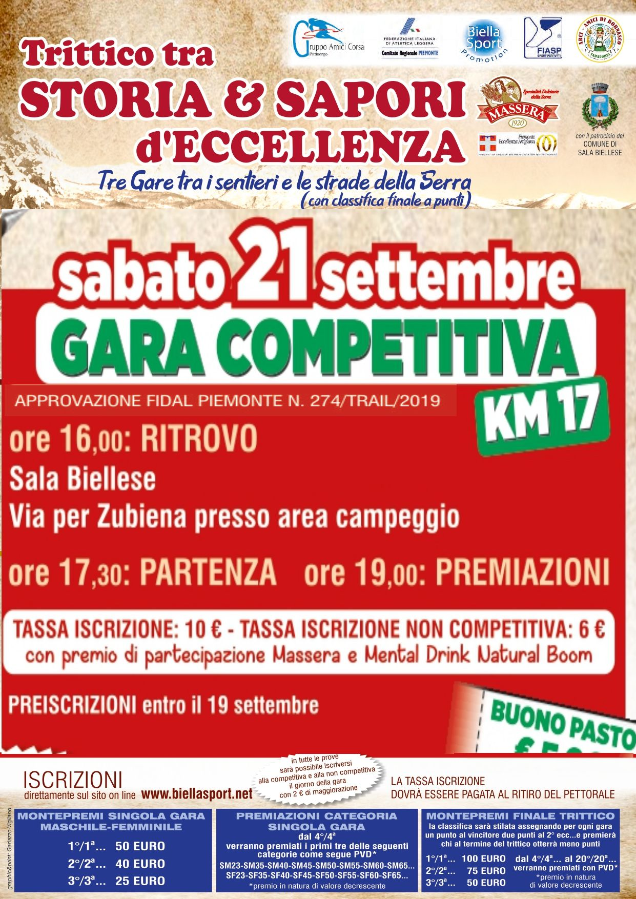 Calendario Fidal Piemonte 2020.Home Biellasport